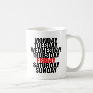 Days of the Week Coffee Mug