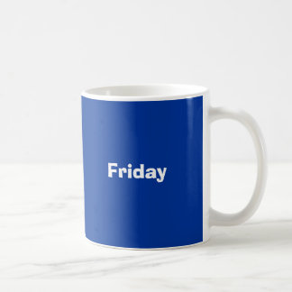 Days of the week mugs