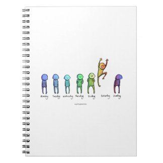Days of the week spiral notebook