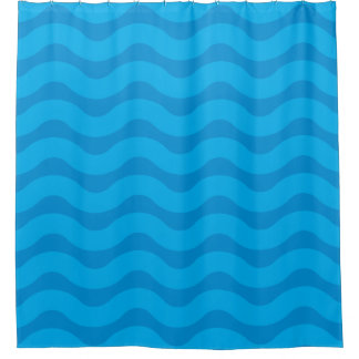 Daytime tide shower curtain