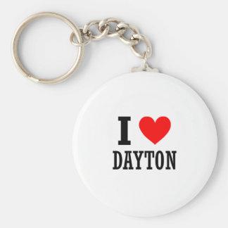 Dayton, Alabama Basic Round Button Key Ring