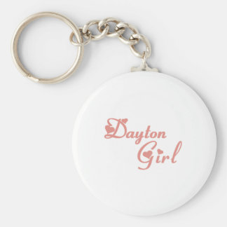 Dayton Girl tee shirts Basic Round Button Key Ring