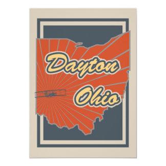 Dayton, Ohio Art Print - Travel Artwork Card