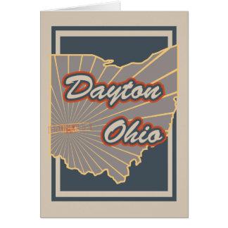Dayton, Ohio Greeting Card - Travel Print v2