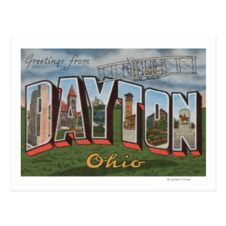 Dayton, Ohio (Wright Brothers Plane) Postcard