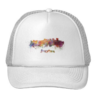 Dayton skyline in watercolor cap