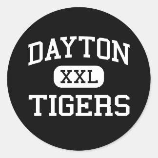 Dayton - Tigers - High School - Parker Colorado Round Stickers