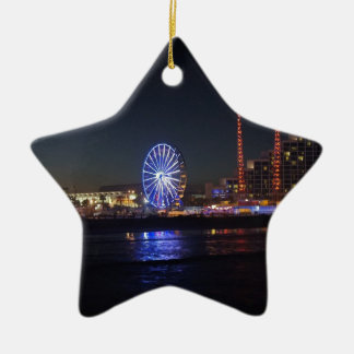 Daytona at Night Ceramic Ornament