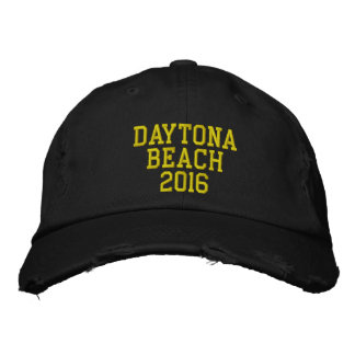 DAYTONA BEACH  2016 EMBROIDERED BASEBALL CAPS