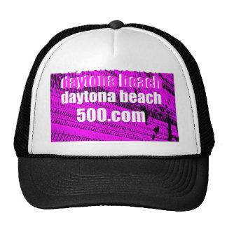 Daytona Beach 500 on Fuchsia Tire Tracks Hat