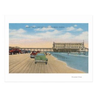 Daytona Beach, FL - Beach View of Pier Casino Postcard