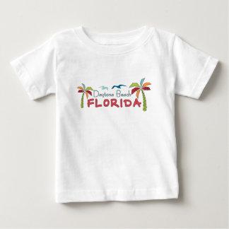 Daytona Beach Florida artsy palms Baby T-Shirt