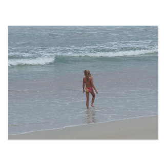 Daytona Beach Florida Bikini Girl Post card FL