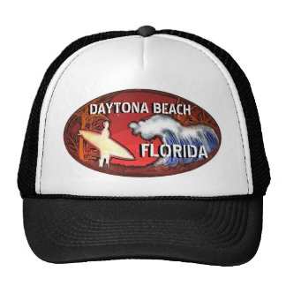 Daytona Beach Florida surfer art hat