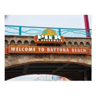 Daytona Beach Main Pier Boardwalk Bridge Postcard