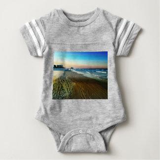 Daytona Beach Shoreline and Boardwalk Baby Bodysuit