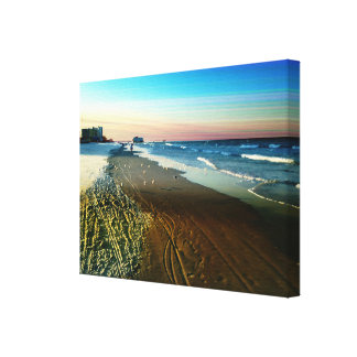 Daytona Beach Shoreline and Boardwalk Canvas Print
