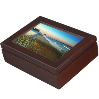 Daytona Beach Shoreline and Boardwalk Keepsake Box