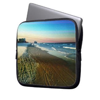 Daytona Beach Shoreline and Boardwalk Laptop Sleeve