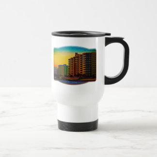 Daytona Beach Shores Coastal Resorts Framed Art Mug