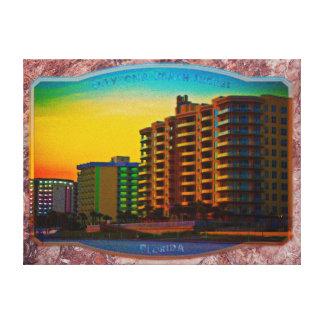 Daytona Beach Shores Coastal Resorts Framed Art Stretched Canvas Prints
