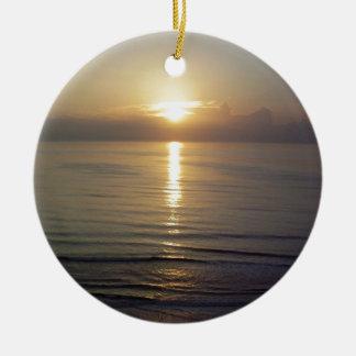 Daytona Beach sunrise Ceramic Ornament