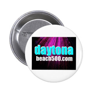 Daytona Beach Tire Tracks Art Pinback Button