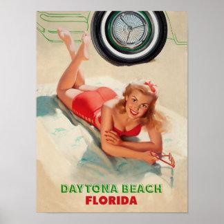 Daytona Beach Travel Poster