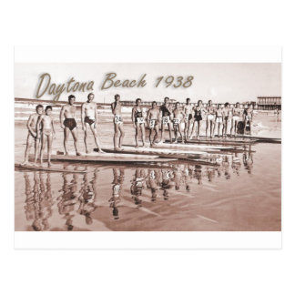 Daytona Beach Vintage Surf Group Photo Postcard
