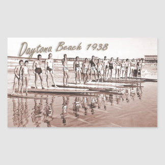 Daytona Beach Vintage Surf Group Photo Rectangular Sticker