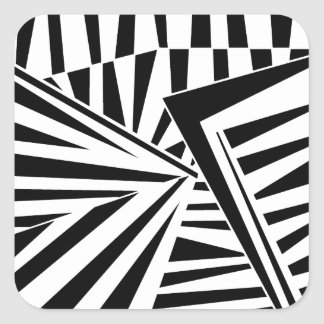 dazzle camouflage (black) square sticker