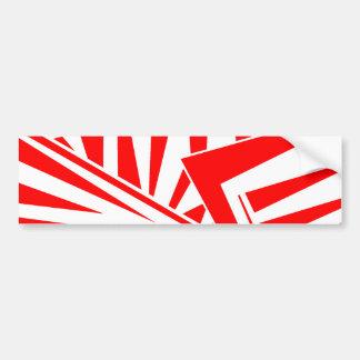 dazzle camouflage (red) bumper sticker