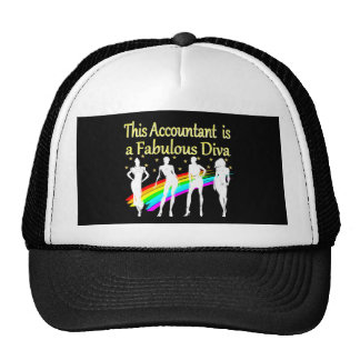 DAZZLING ACCOUNTANT DIVA DESIGN CAP