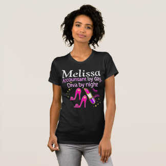 DAZZLING ACCOUNTANT DIVA PERSONALIZED T SHIRT