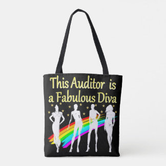 DAZZLING AUDITOR DIVA DESIGN TOTE BAG