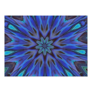 Dazzling Blue Abalone Mother of Pearl Mandala Personalized Invitations