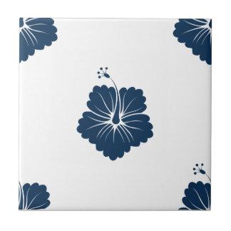Dazzling Blue Flower Pattern 3 Ceramic Tile