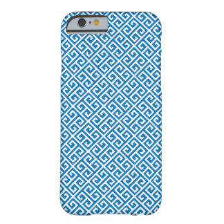 Dazzling Blue Greek Key Pattern iPhone 6 Case Barely There iPhone 6 Case