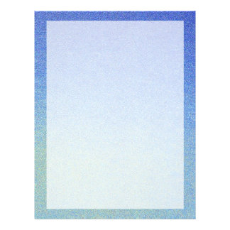 Dazzling Blue Ombre Glitter Sand Look Dark Light 21.5 Cm X 28 Cm Flyer