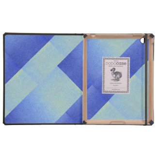 Dazzling Blue Ombre Glitter Sand Look Dark Light Cases For iPad