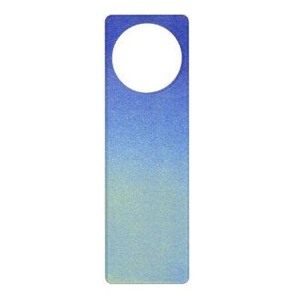Dazzling Blue Ombre Glitter Sand Look Dark Light Door Knob Hangers
