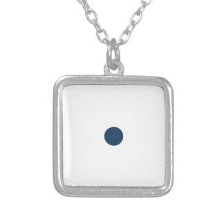 Dazzling Blue Polkadots Small Custom Necklace