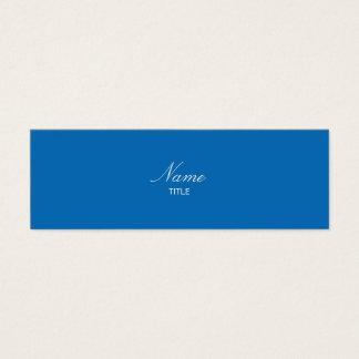 Dazzling Blue Small Elegante Mini Business Card