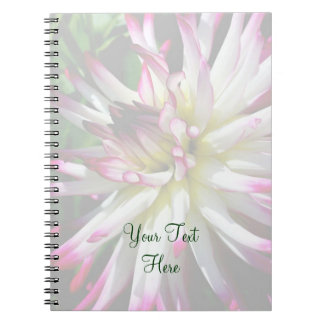 Dazzling Dahlia Flower Personalized Notebook
