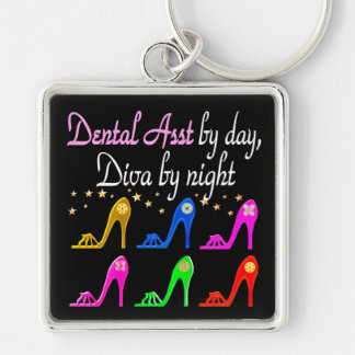 DAZZLING DENTAL ASSISTANT SHOE QUEEN KEY RING