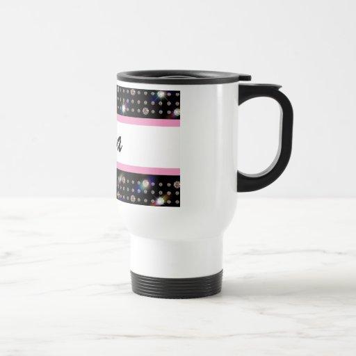 Dazzling Diamond Pink Bling Travel Mug