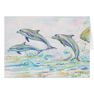 """Dazzling Dolphins Note Card - 5.6"""" x 4"""""""
