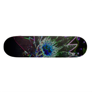 Dazzling Glow Lotus Custom Skate Board