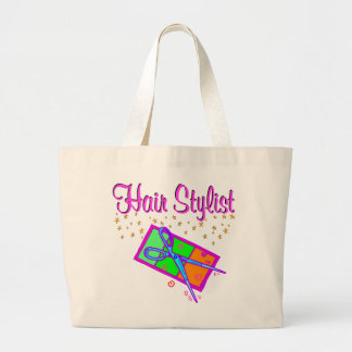 DAZZLING HAIR STYLIST AND BEAUTICIAN LARGE TOTE BAG