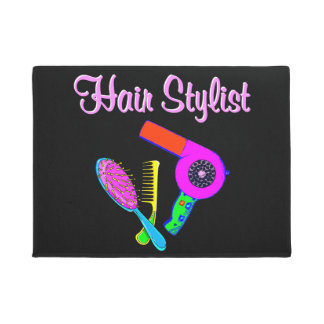 DAZZLING HAIR STYLIST TEES AND GIFTS DOORMAT